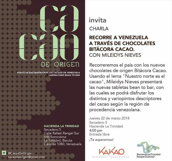 Charla CdO: Recorre Venezuela a través de chocolates Bitácora Cacao