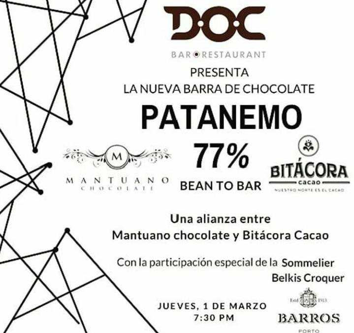 Lanzamiento barra PATANEMO 77% junto a Mantuano Chocolates